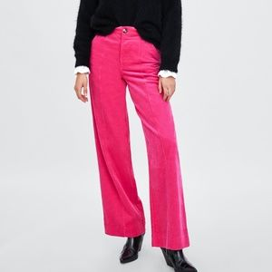 Zara Pink Corduroy Pants